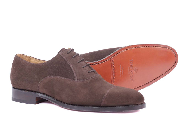 Dorchester - Oxford - Dark Brown Suede
