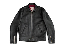AD01 Black - Center Zip Jacket - Horsehide