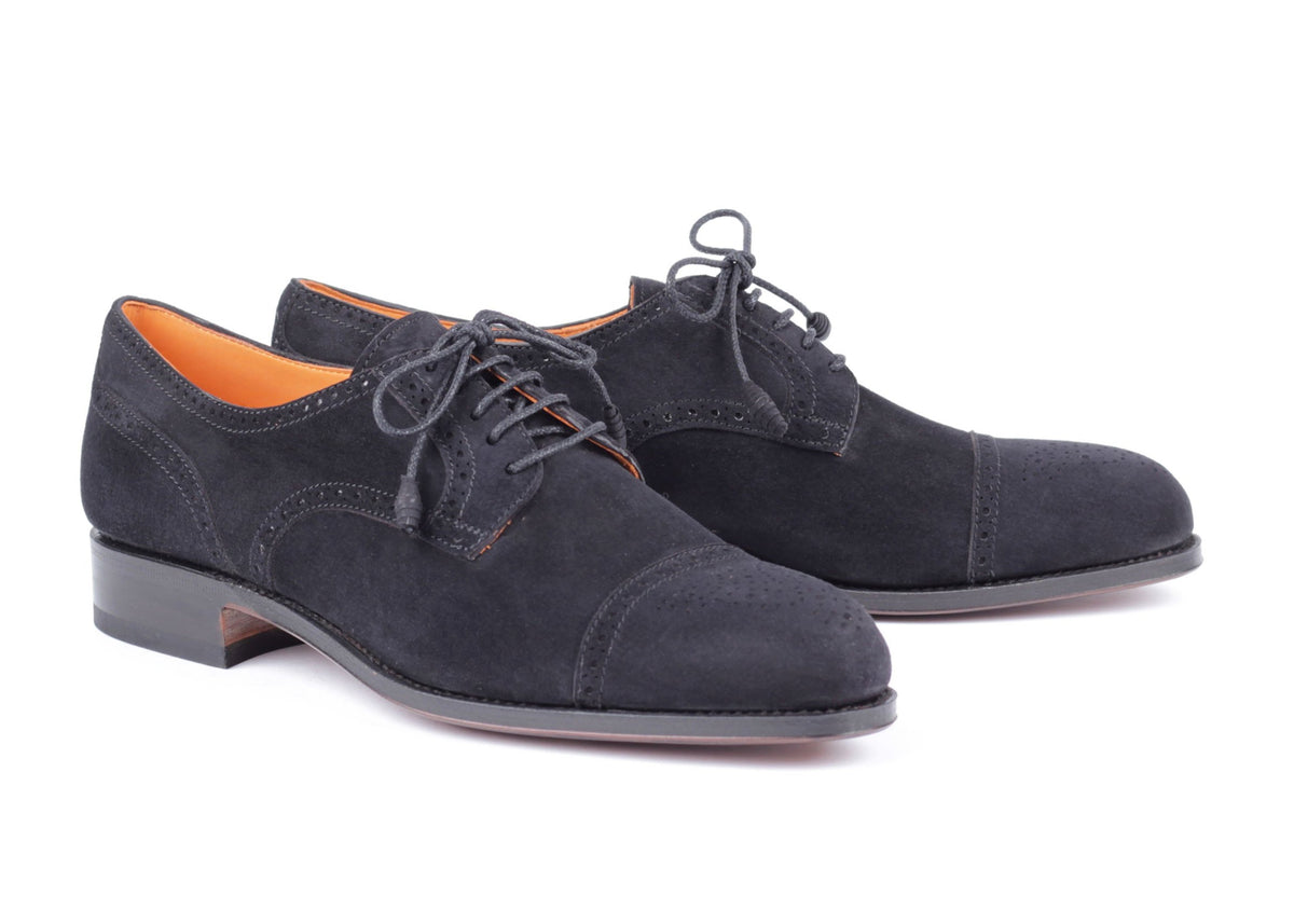 1547 - Derby - Black Suede