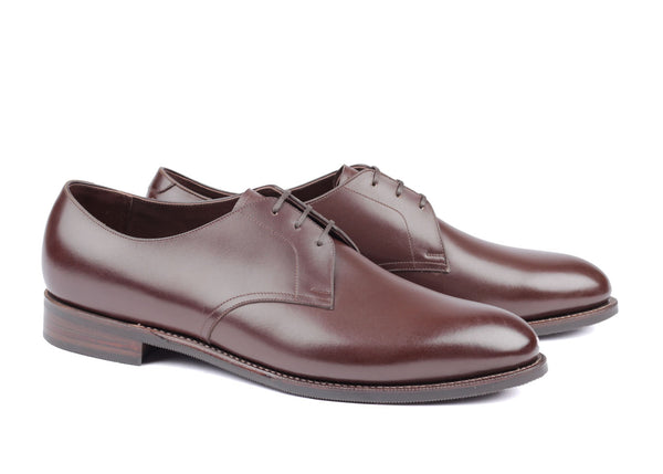 110 - Plain Toe Derby - Dark Brown Du Puy