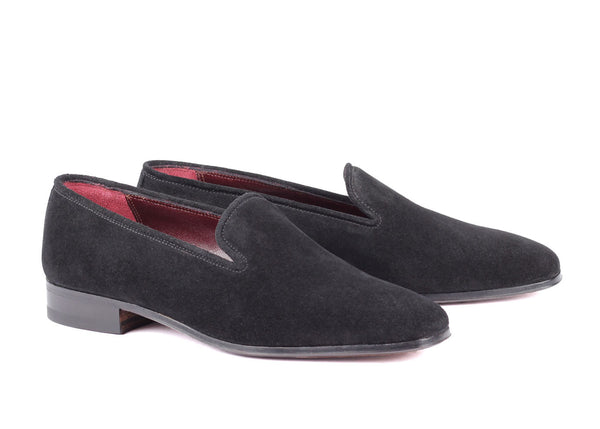8287 - Wholecut Loafer - Black Suede