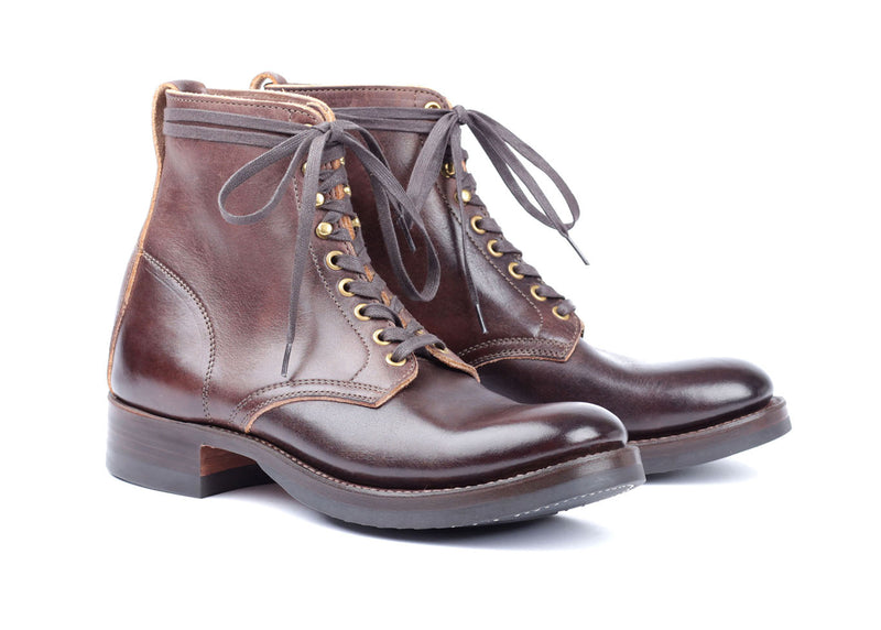 Lace Up Boots - Dark Brown