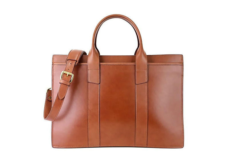 ZipTop Briefcase - Chestnut