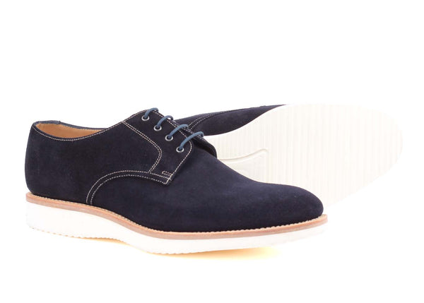 ADDER Navy suede - Plain derby