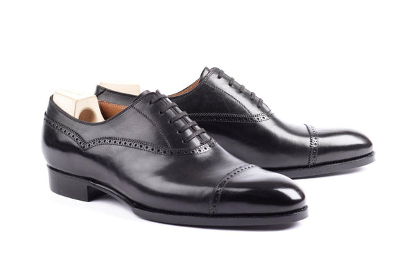 535 - Balmoral Semi Brogue - Black