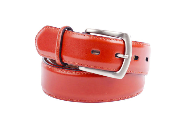 French Calf Leather Belt - Cognac