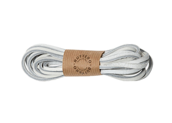 Buttero leather laces 160cm - White