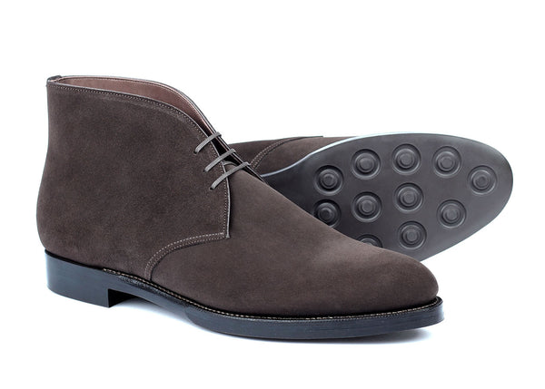 108 - Chukka - Dark Brown Suede