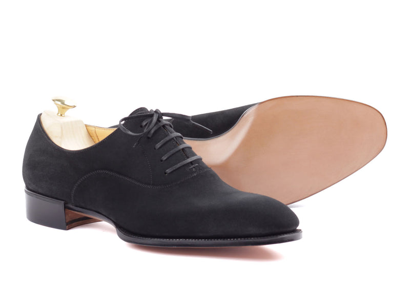 Oxford Plain Toe - Black Suede