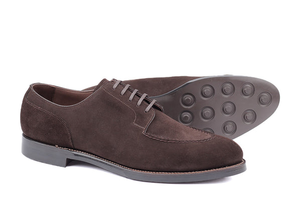 103 - Skinstitch Derby - Dark Brown Suede
