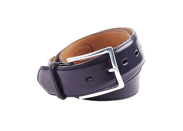 Cordovan Leather Belt - Black