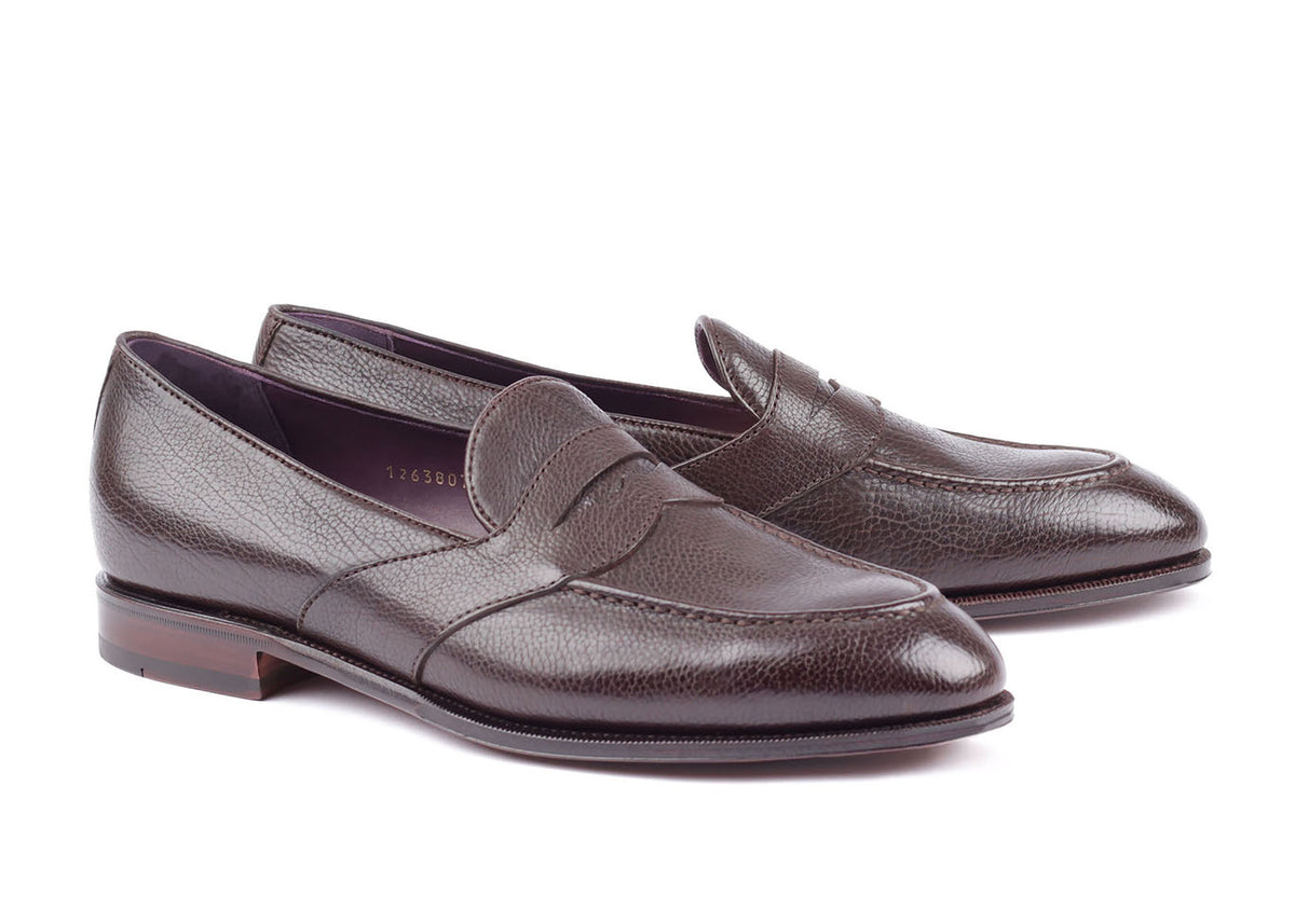80372 - Full Strap Penny Loafer - Brown Lama