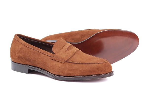 300 - Skinstitch Apron Loafer - Snuff Suede