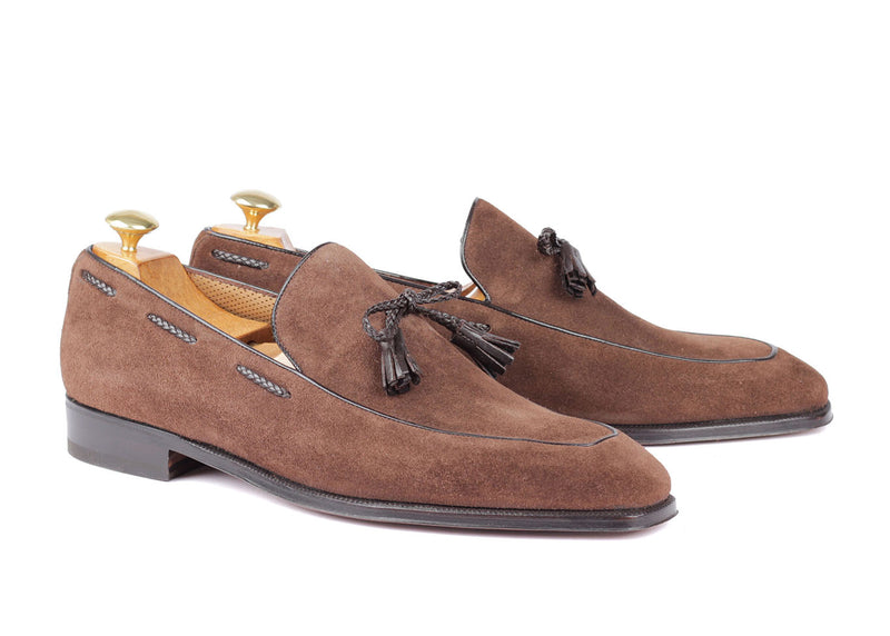 4019 - Braided Tassel Loafer - Kudu Reverse Cigar