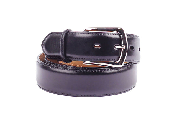 French Calf Leather Belt - Black