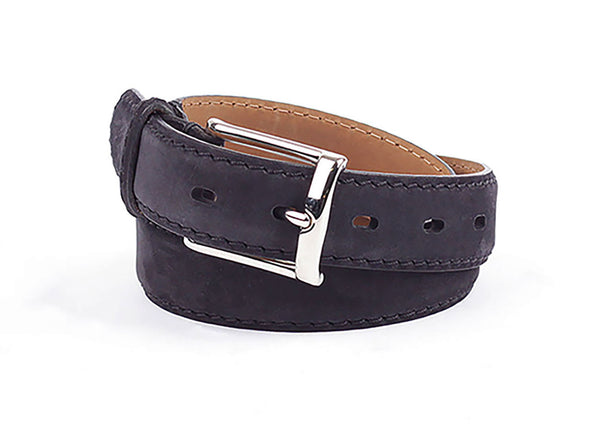 Signora Nubuck Leather Belt - Black