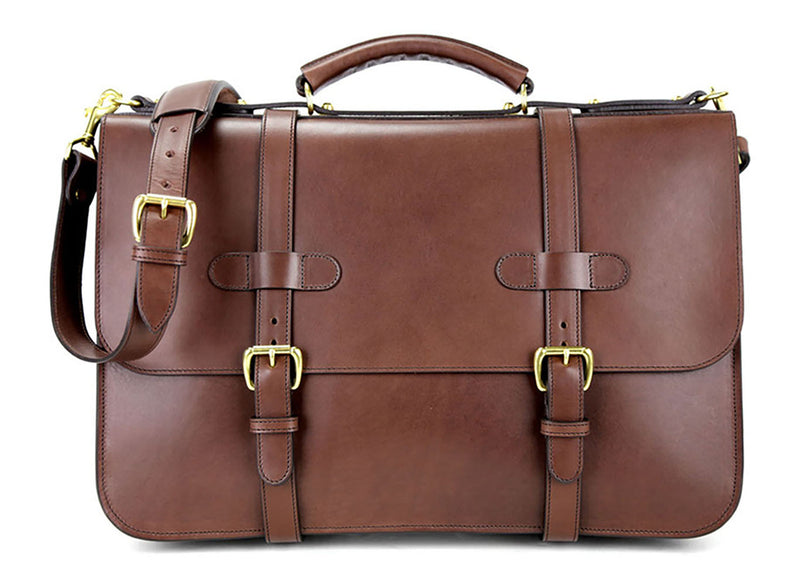 English Briefcase - Chocolate