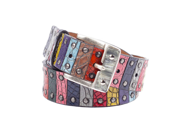 Crocodille Leather Belt - Mixed