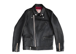 AD03L Black - Double Rider Jacket - Horsehide
