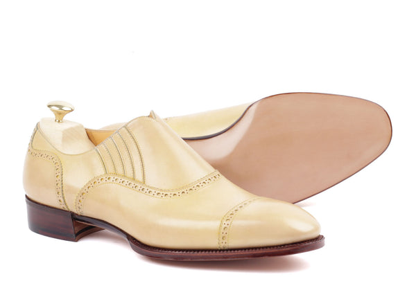 Slip-on Semi Brogue - Light Brown