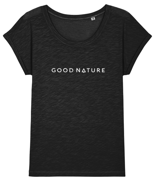 Ladies T-shirt with Horizontal Logo - Good Nature Official