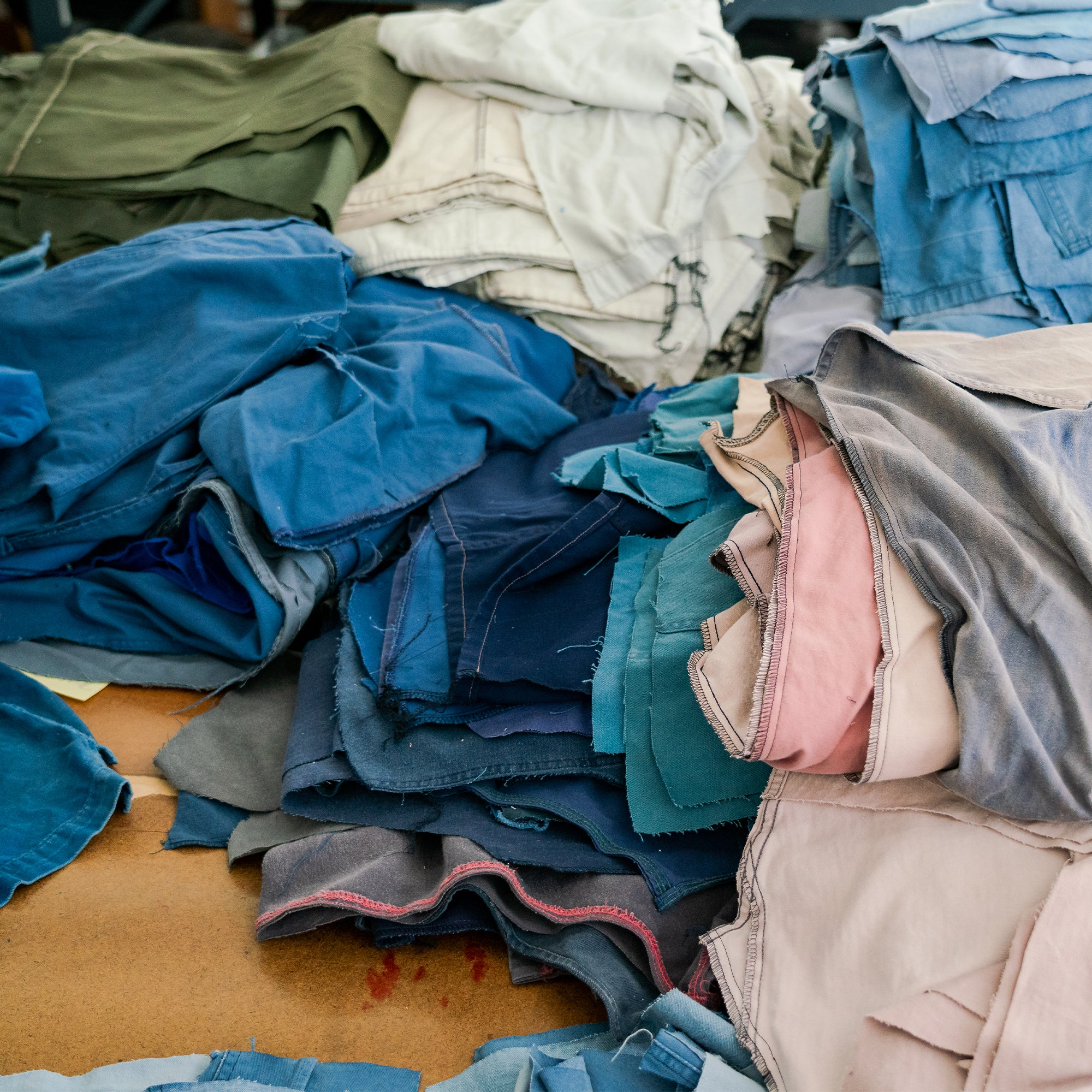 image of a pile of stitched together fabric pieces