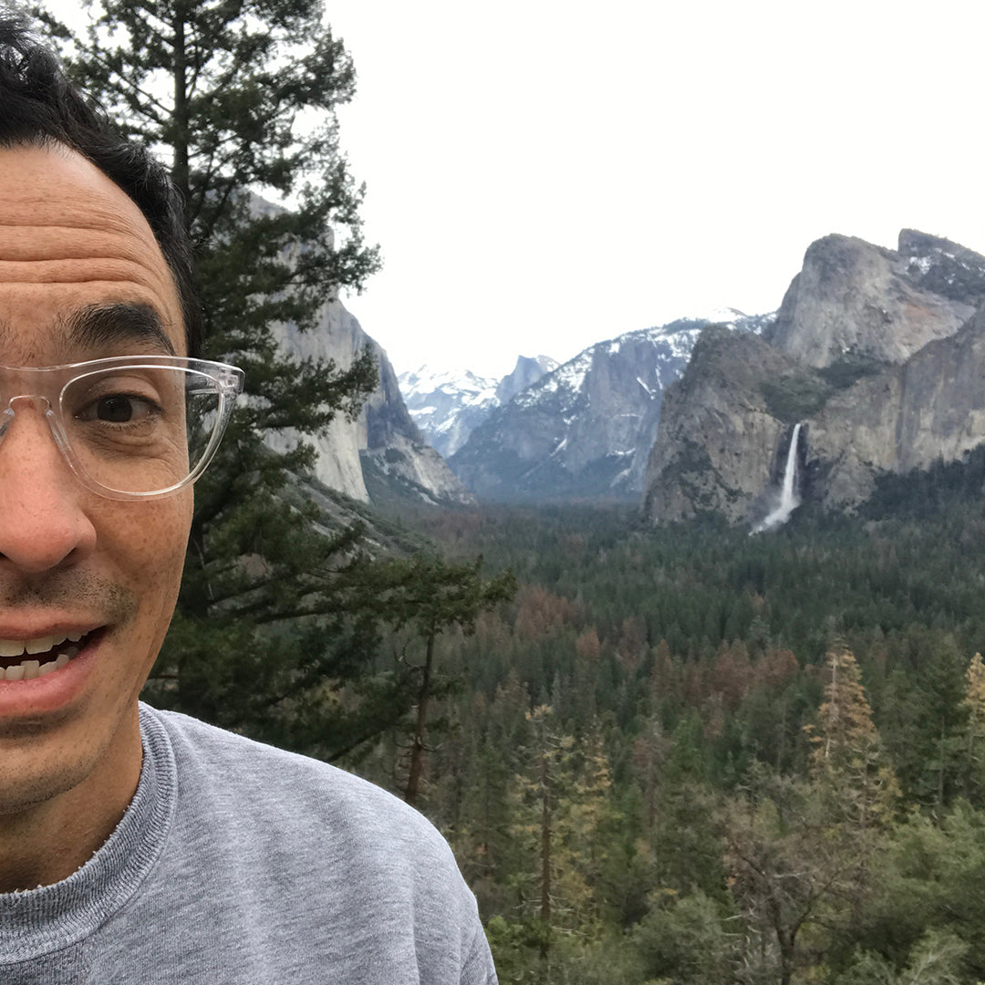 Close up image of Geoff McFetridge in Yellowstone National Park