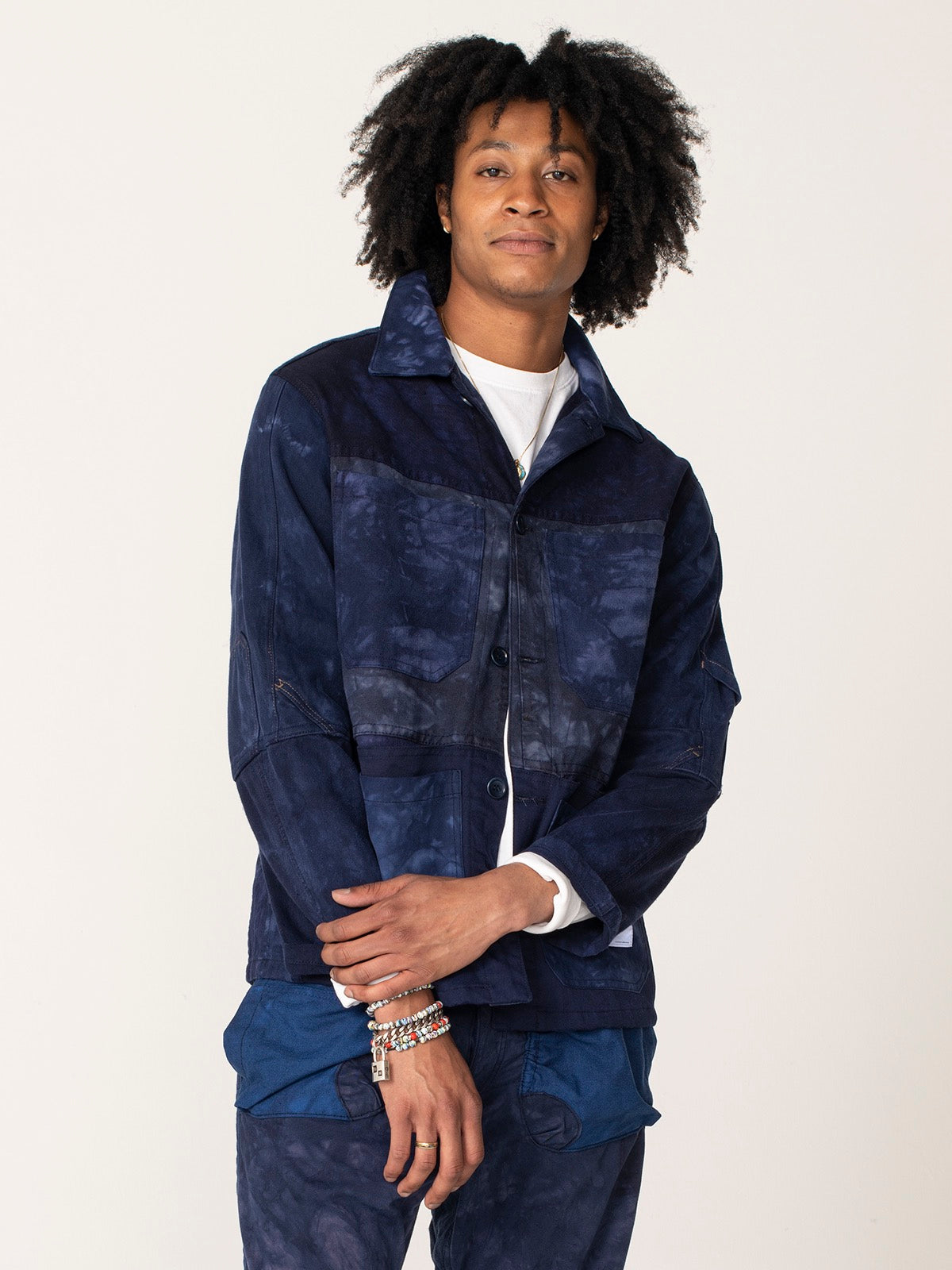 ReCraft Chore Jacket - Indigo Shibori