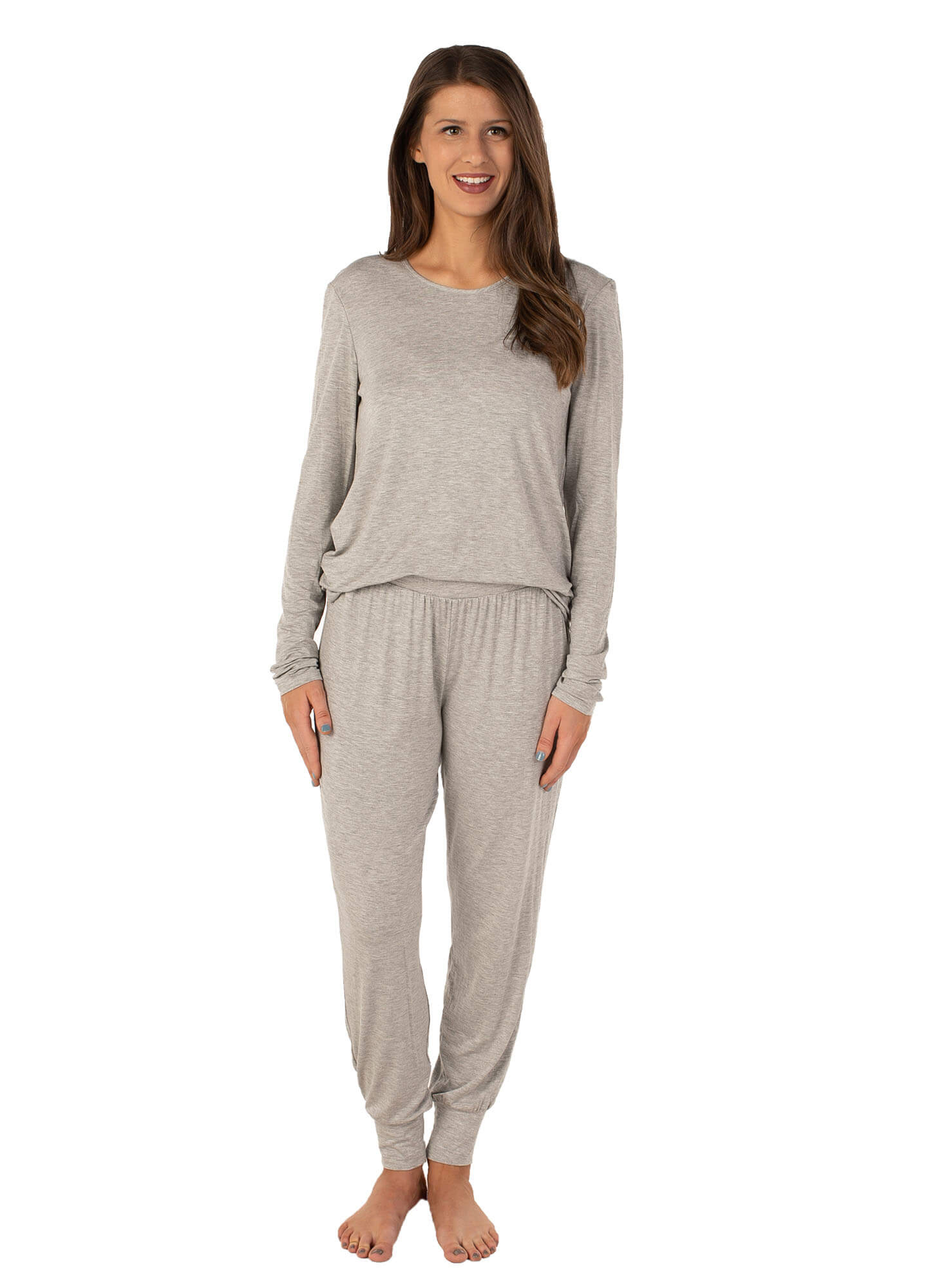 heather gray pajama pants for ladies
