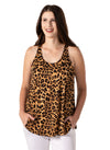 animal print pajama tank with built in bra