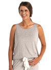 heather gray sleepwear with support bra