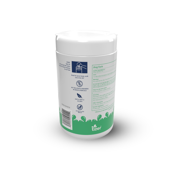 80ct Canister Alcohol Sanitizing Wipes