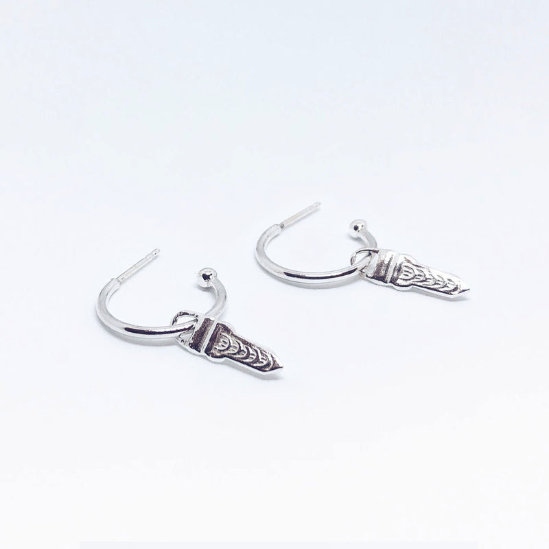 Small Arrow Pendant Hoops