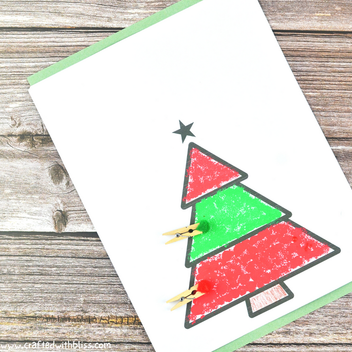 Easy Christmas Pom Pom Painting Activity