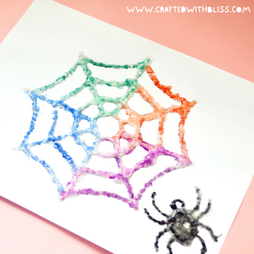 Spider Web Easy Salt Painting