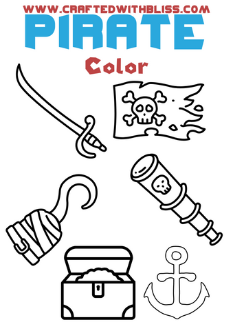 FREE Pirate Activity Pack For Kids Coloring