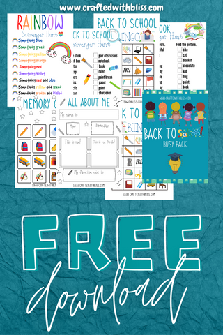Free FREE Back to School Busy Pack