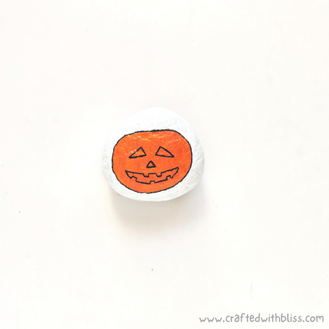 Halloween Stone Painting For Kids Step 4
