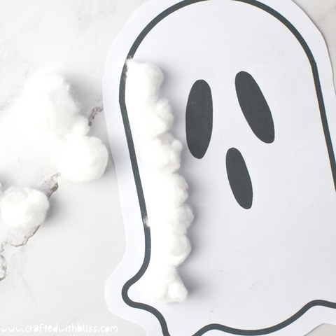Fluffy Ghost Halloween Craft For Kids Step 3.1