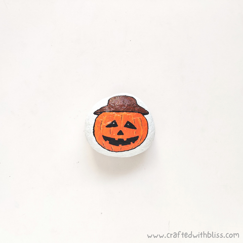 Halloween Stone Painting For Kids Step 7