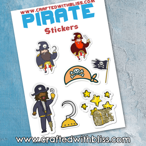 FREE Pirate Activity Pack For Kids Stickers