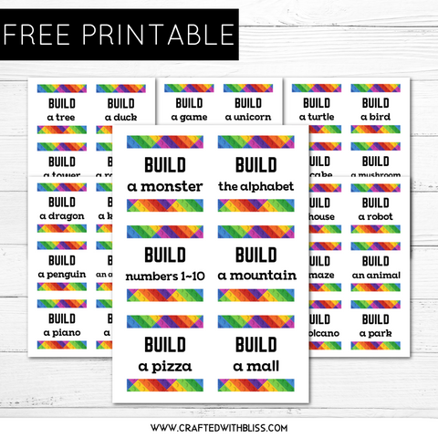 FREE Lego Challenge Cards | Free Printable For Kids