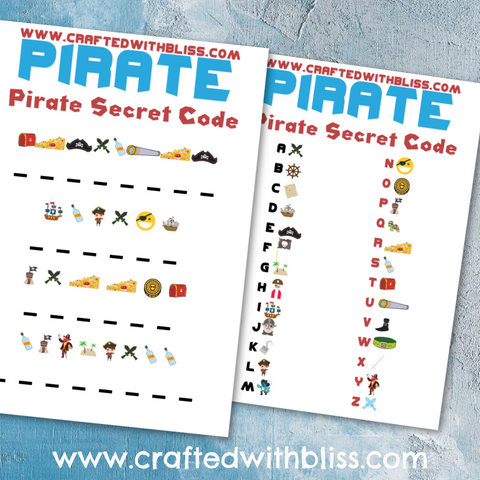 FREE Pirate Activity Pack For Kids code