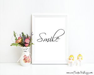 Smile | Wall Art - CraftedwithBliss