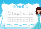 Editable Name Writing Worksheet, Playdough Mat - CraftedwithBliss