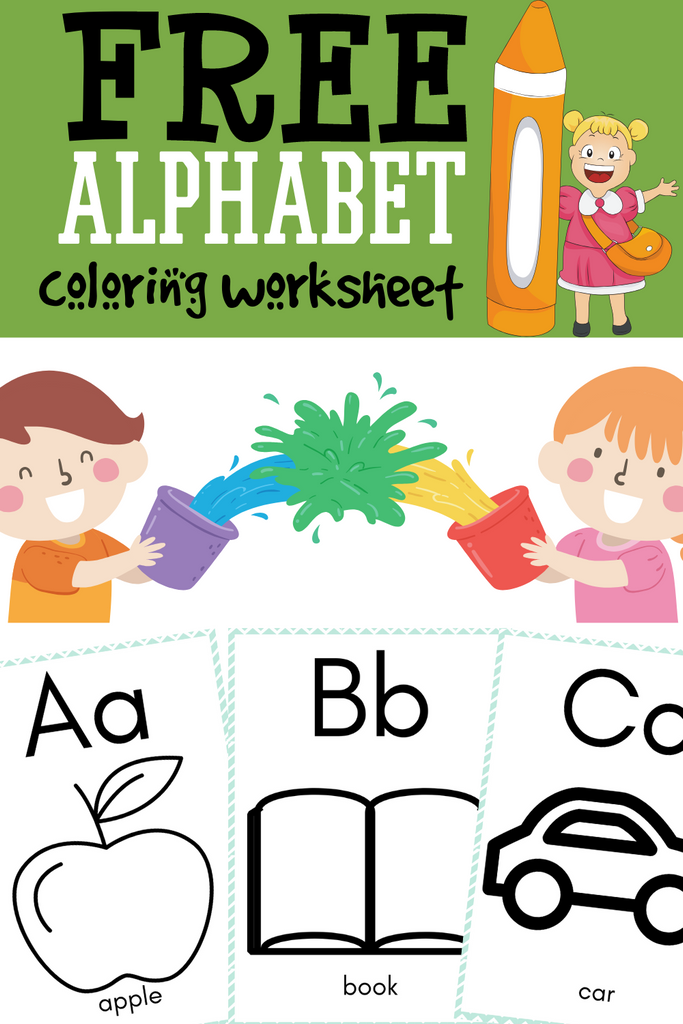 FREE Alphabet Coloring Worksheet - CraftedwithBliss
