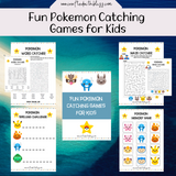 Fun Pokemon Catching Games for Kids - CraftedwithBliss