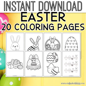 Easter Coloring Pages, Easter Coloring Printable, Coloring Easter Items, Easter Coloring Activity