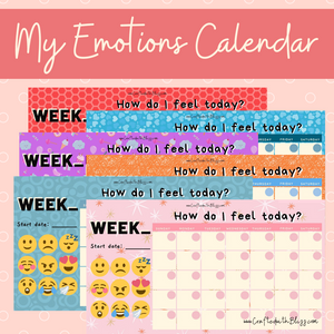 My Emotions Calendar - CraftedwithBliss