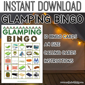 Glamping For Kids, Glamping Bingo Birthday Party